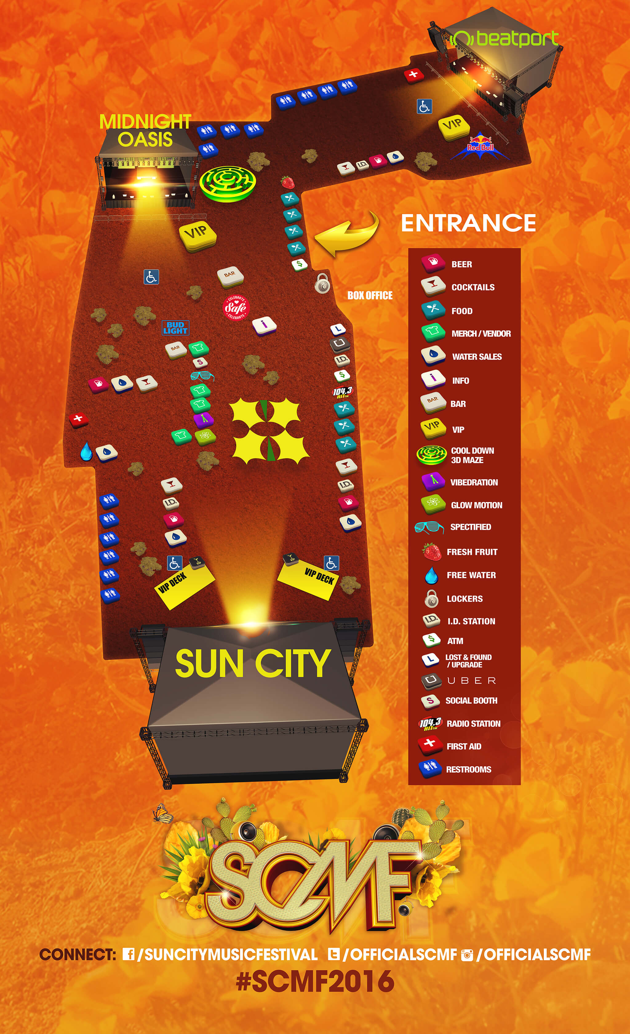 map of sun city music festival 2016