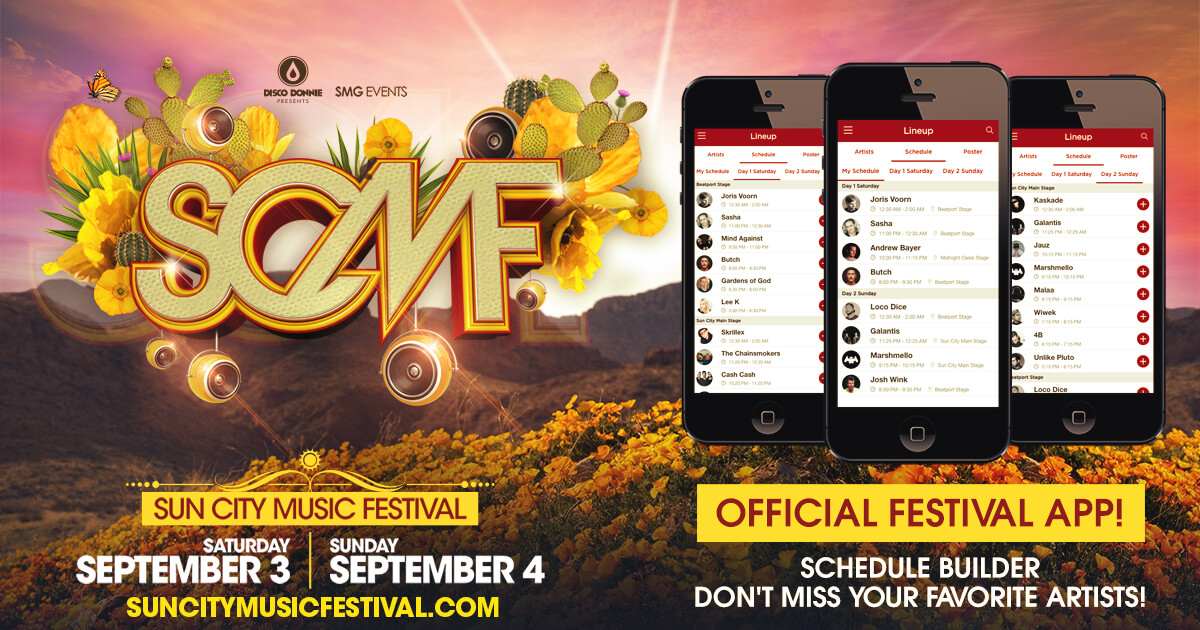 Build your schedule in the official SCMF app!