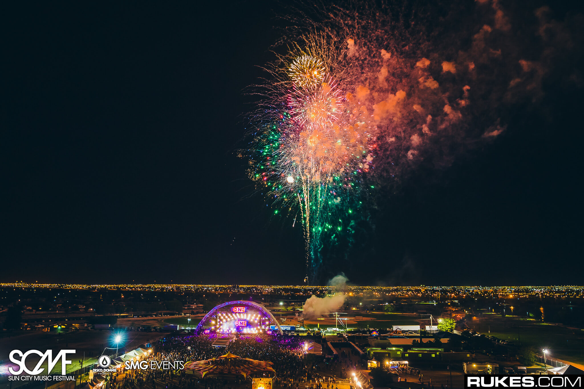 fireworks finale main stage at sun city music festival