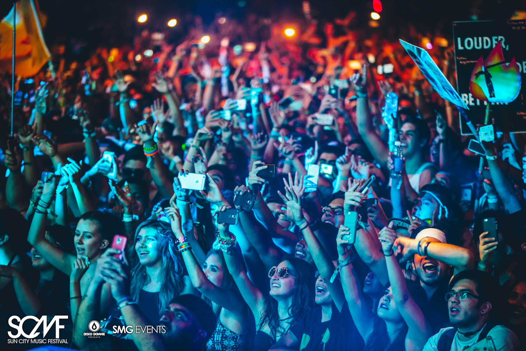 galantis fans with phones front row sun city music festival