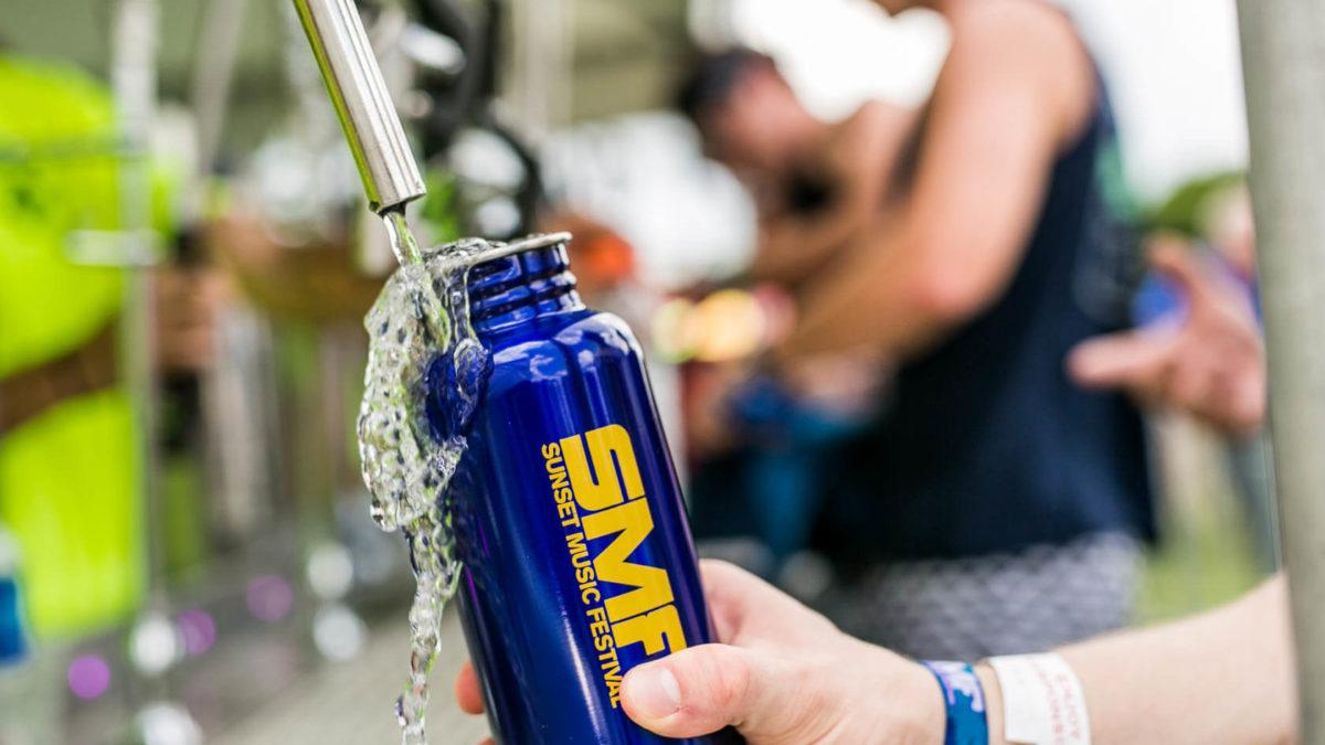 Sunset Music Festival water bottle