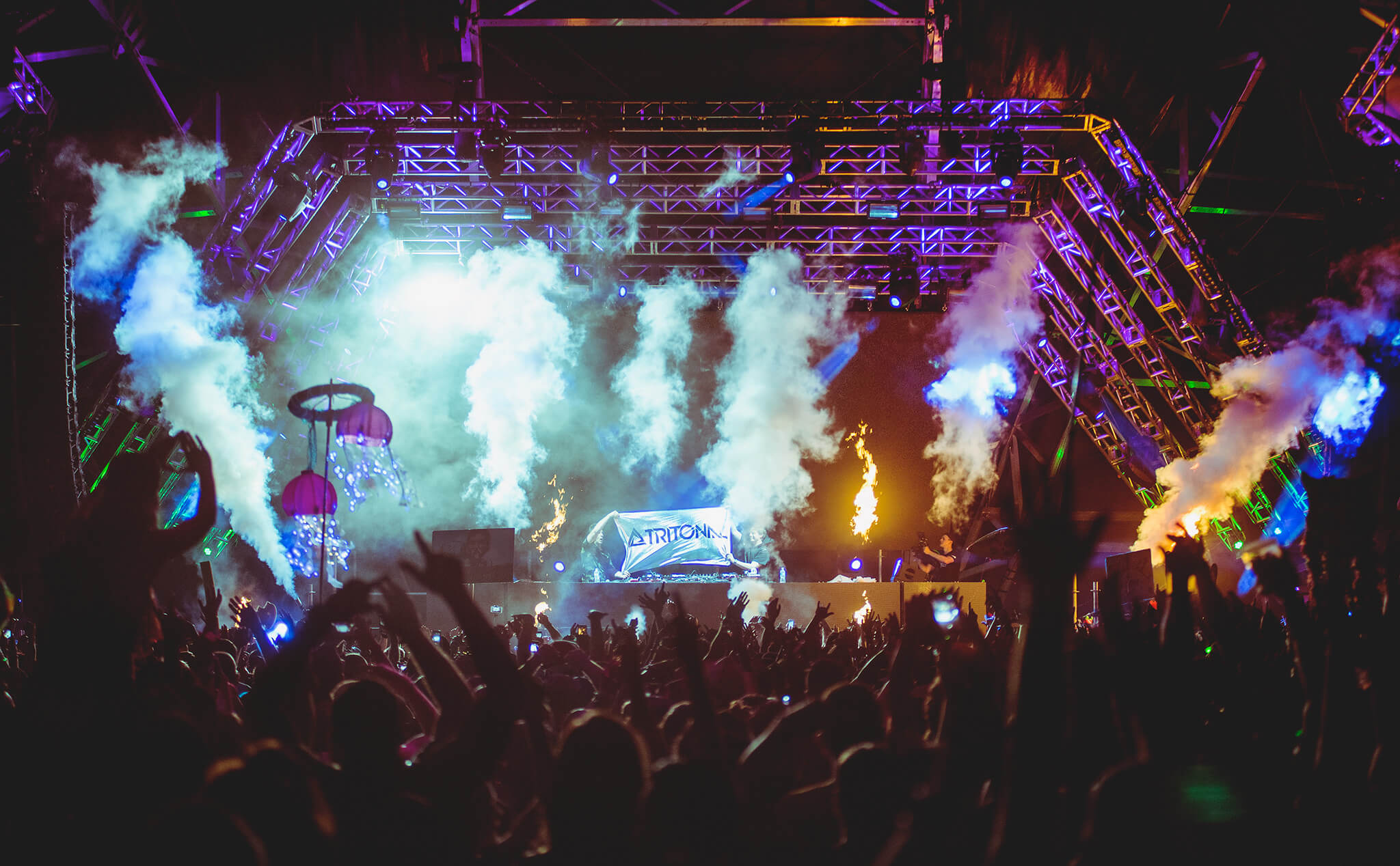 Tritonal performing at Sunset Music Festival 2016