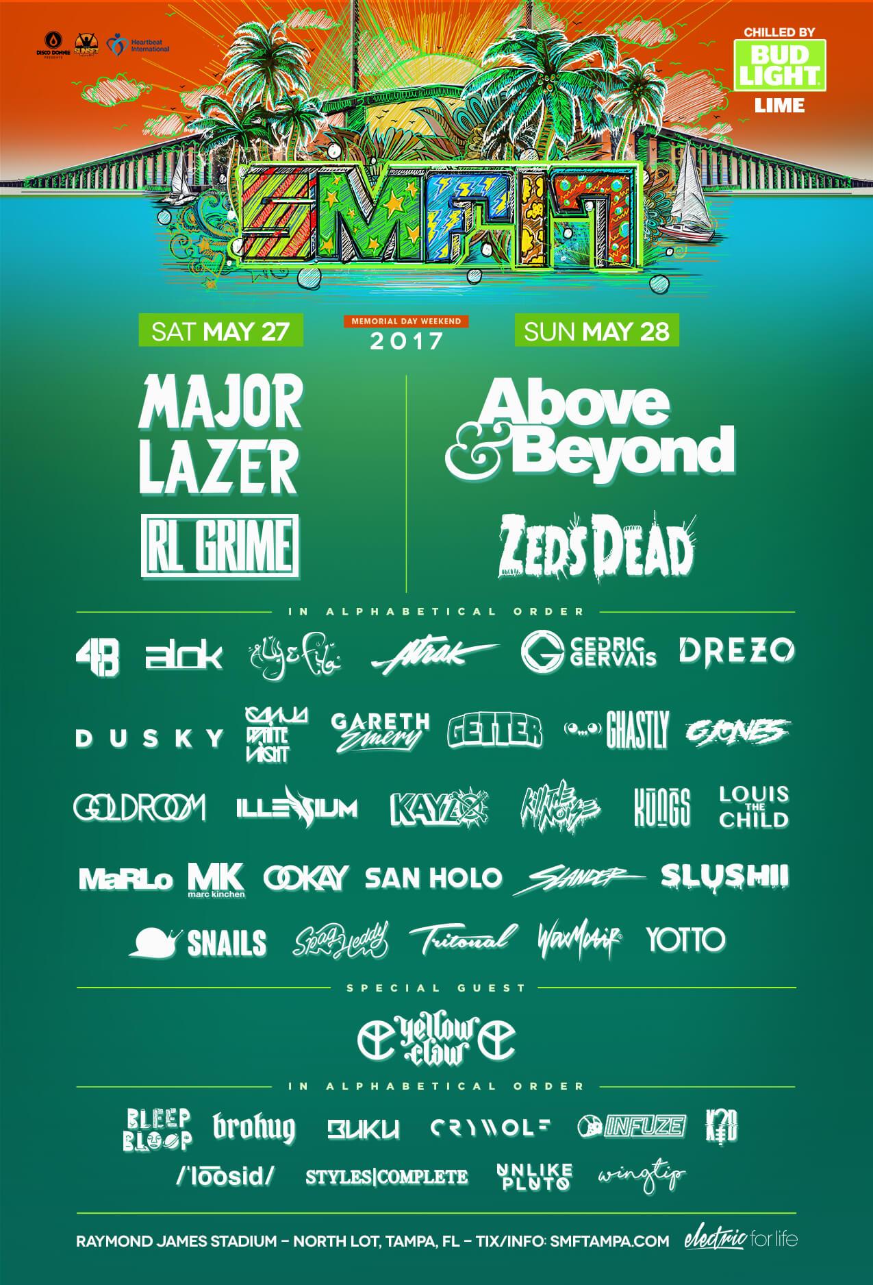 Sunset Music Festival 2017 Lineup Poster