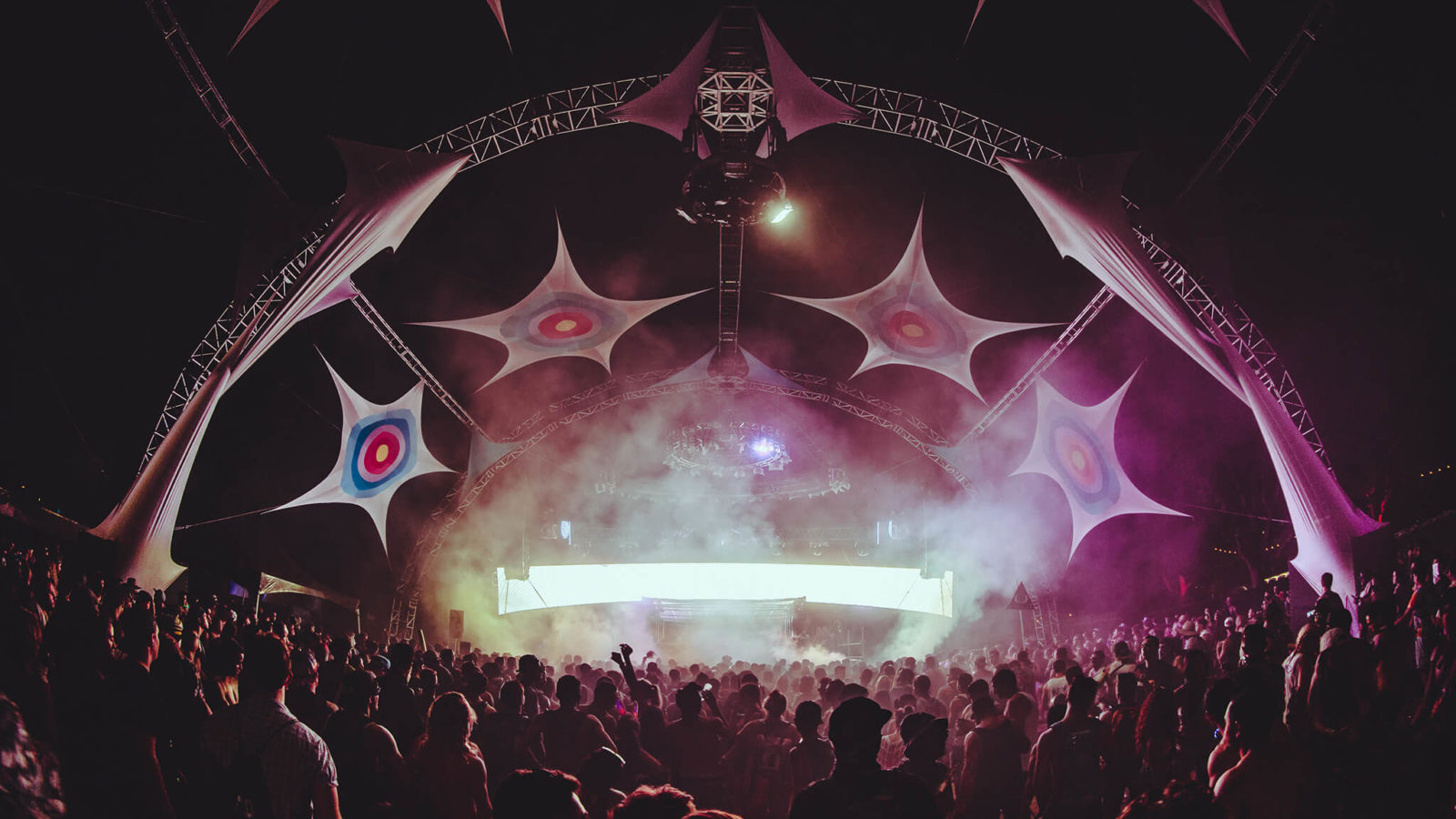 stage production at sunset music festival
