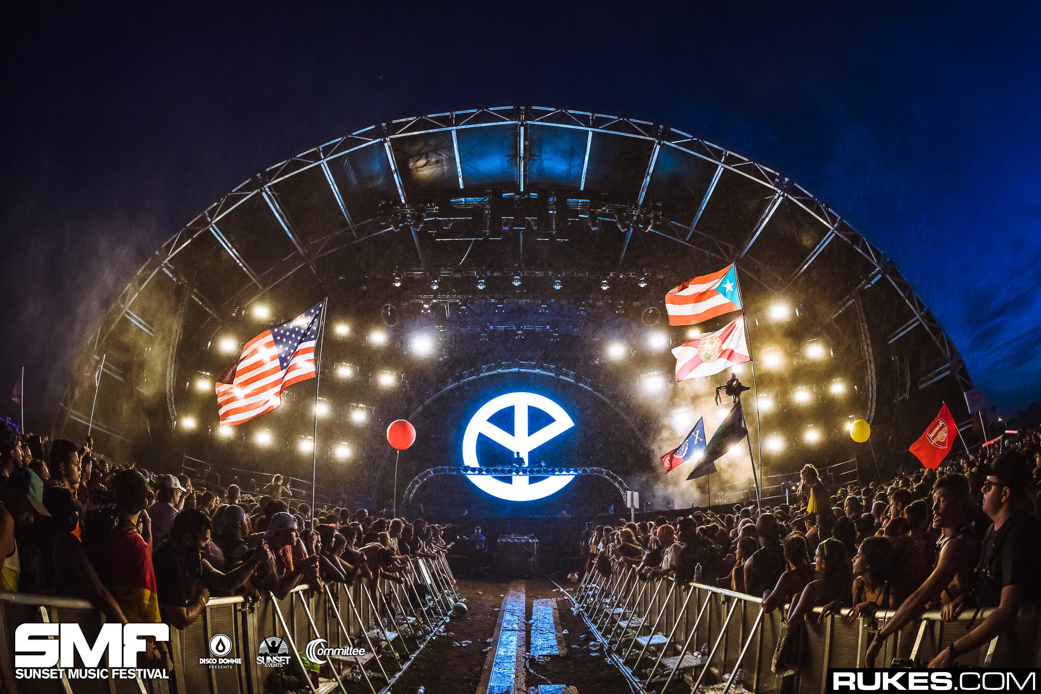 yellow claw live at sunset