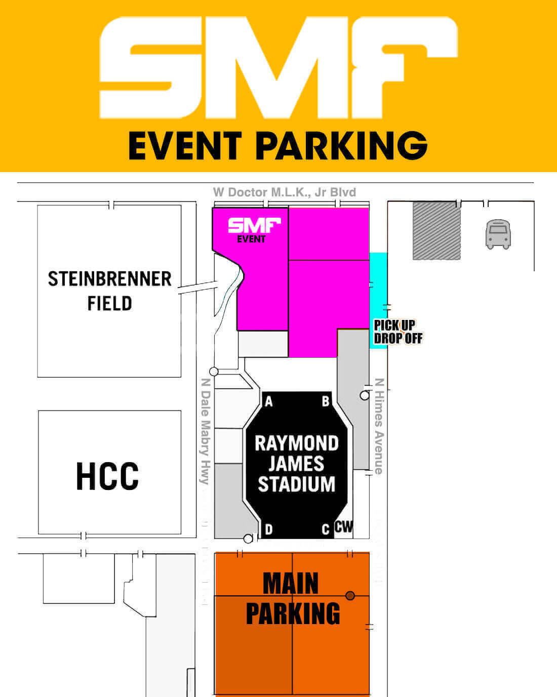 SMF 2017 parking map