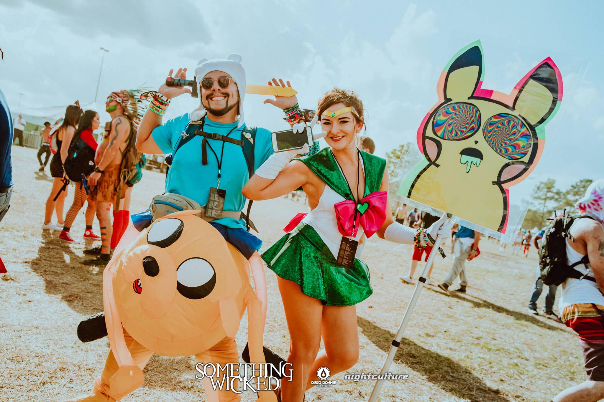 festival fan with totem