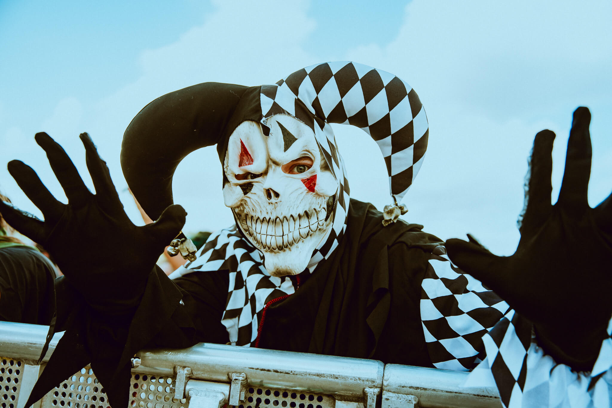 festival fan in costume