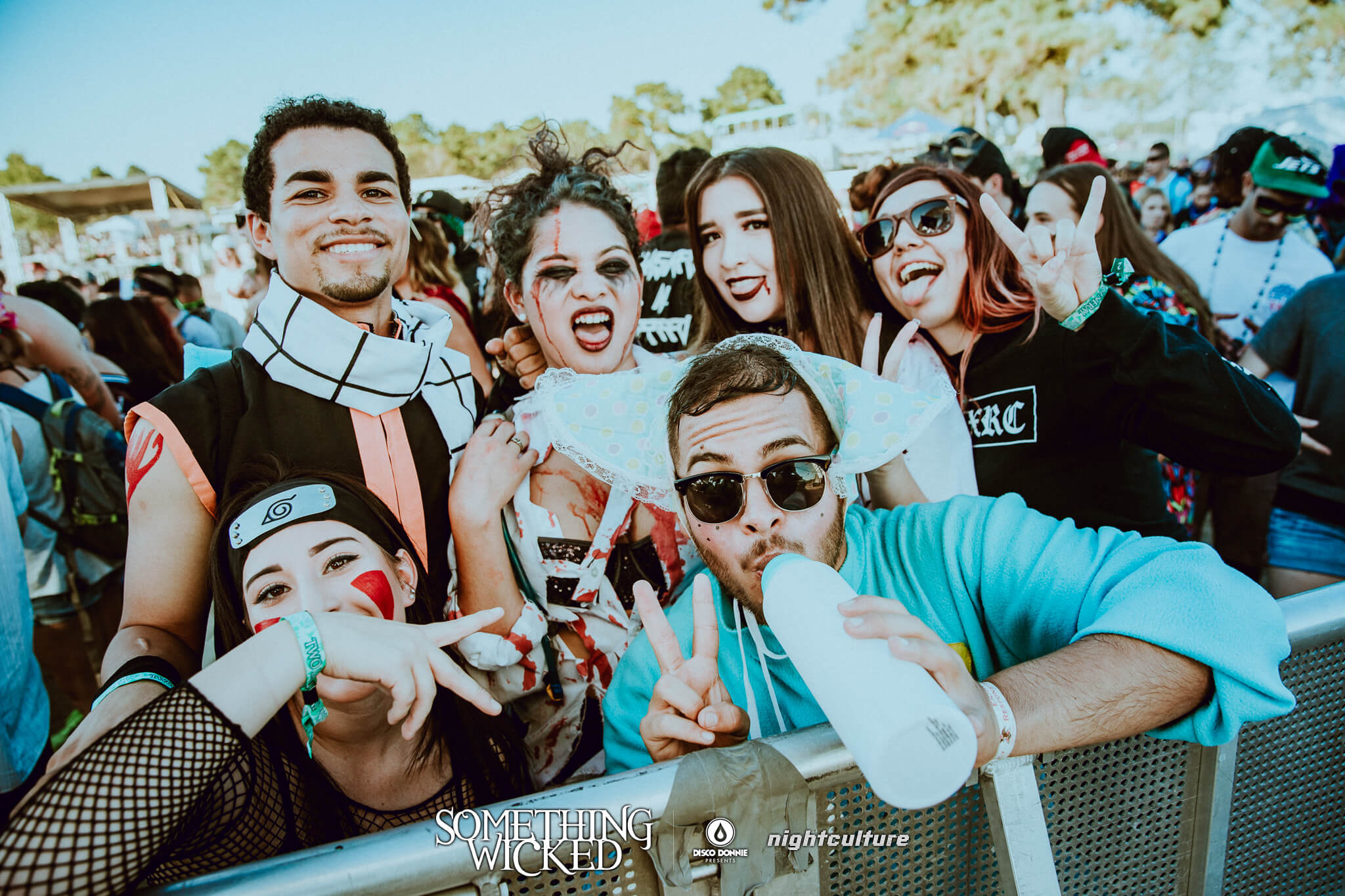 group of wicked festival fans