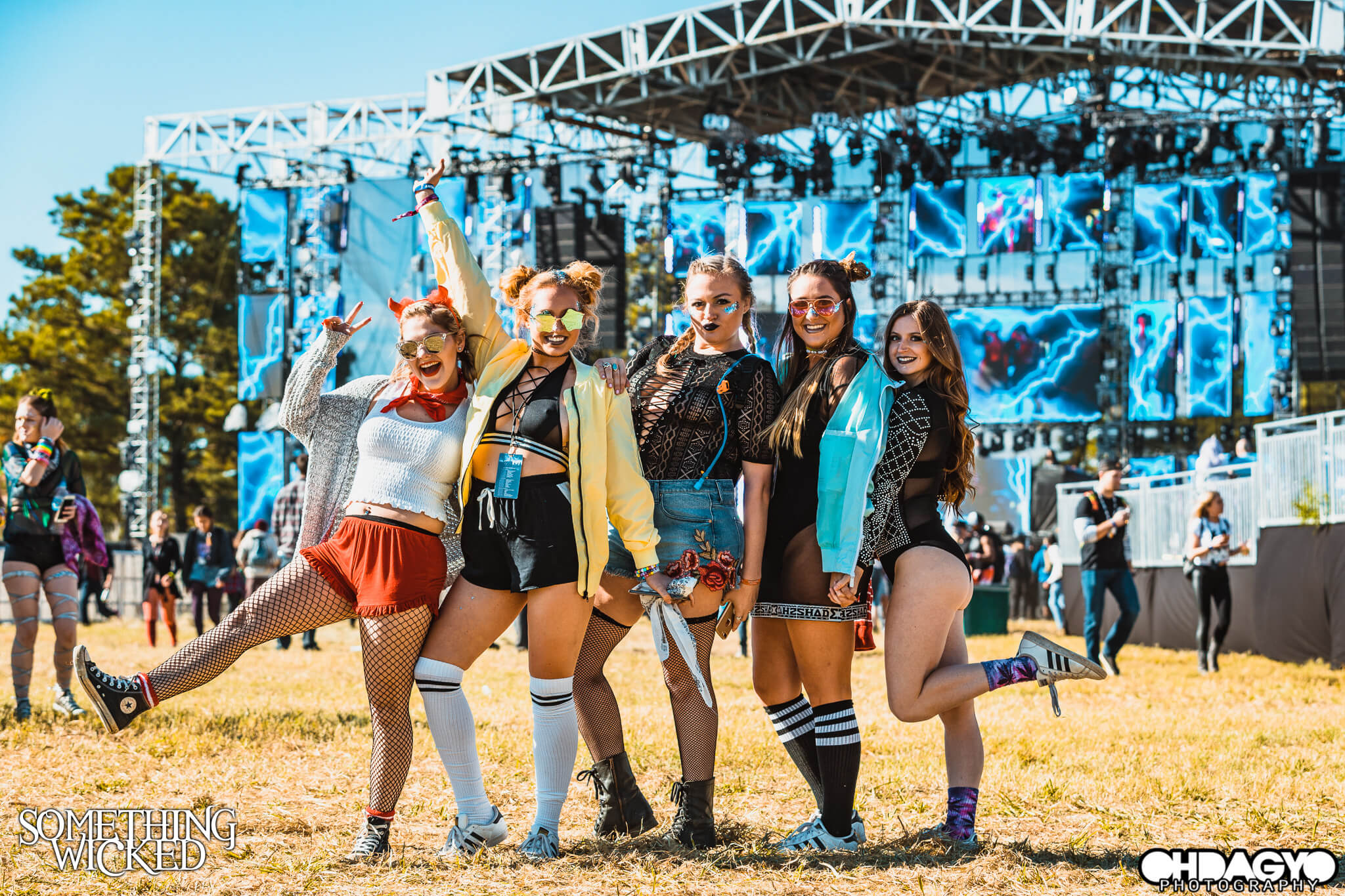 crew of festival friends