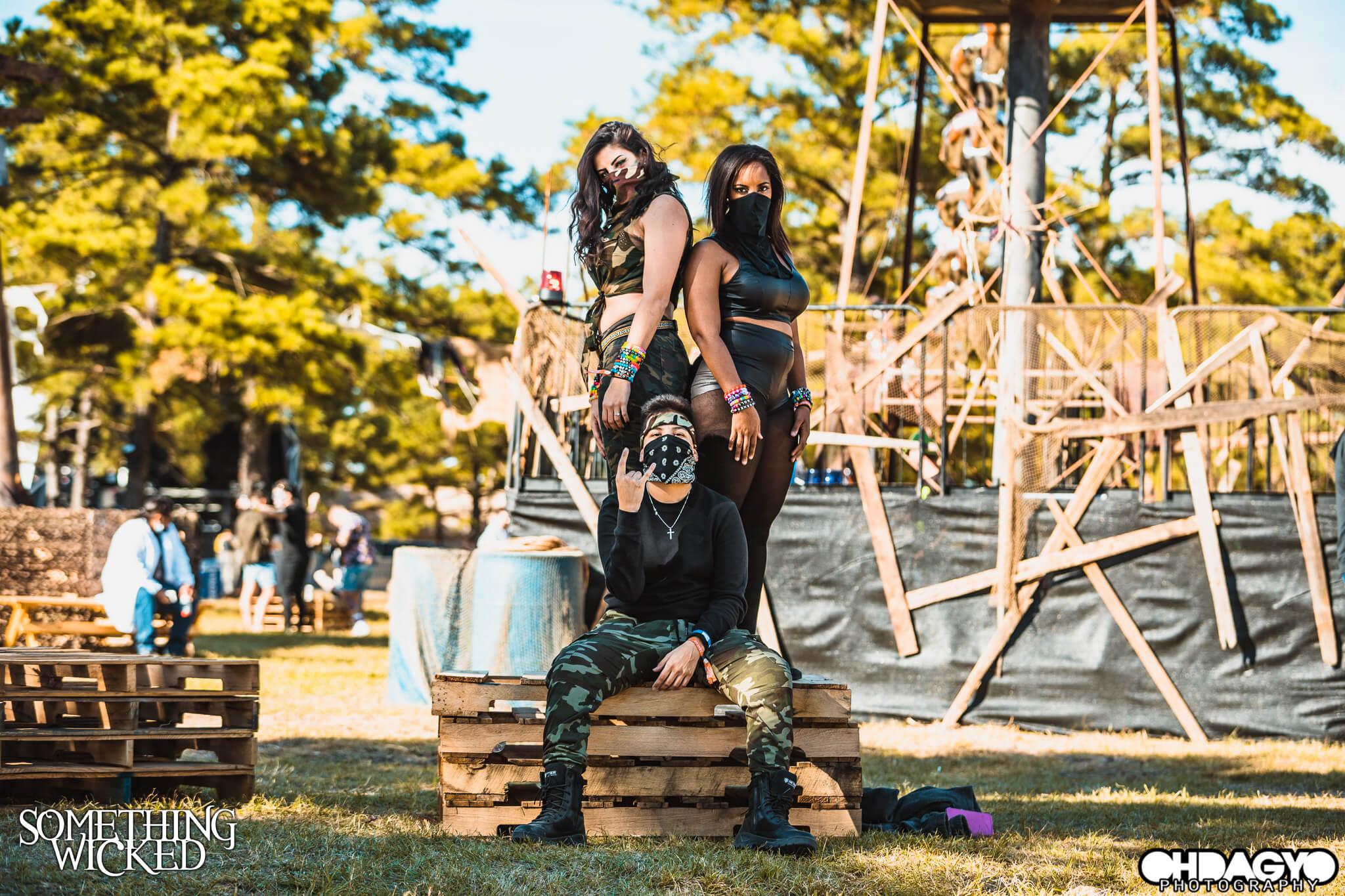 wicked crew of festival fans