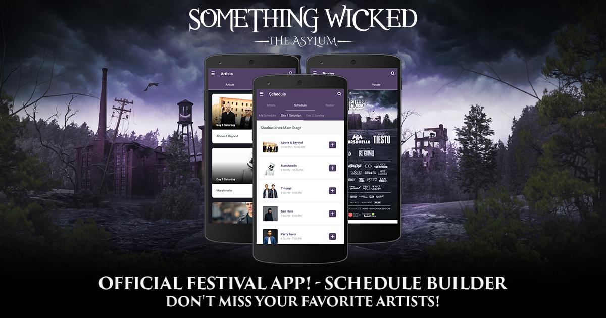 mobile app festival schedule builder