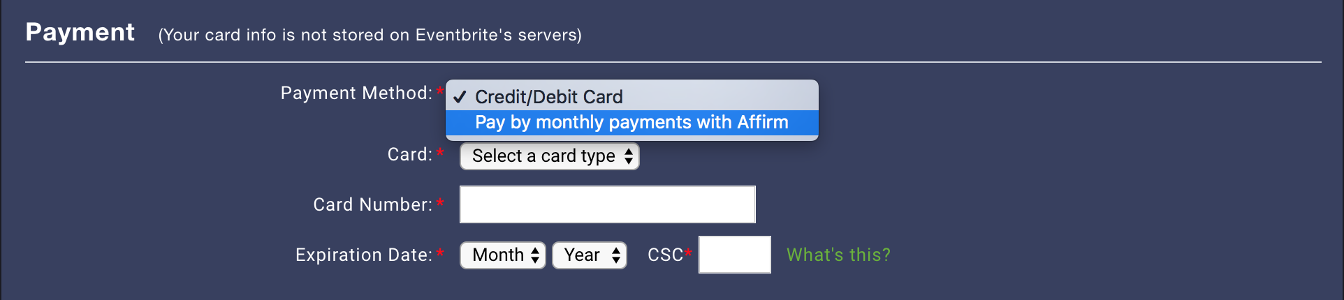 affirm payment plan