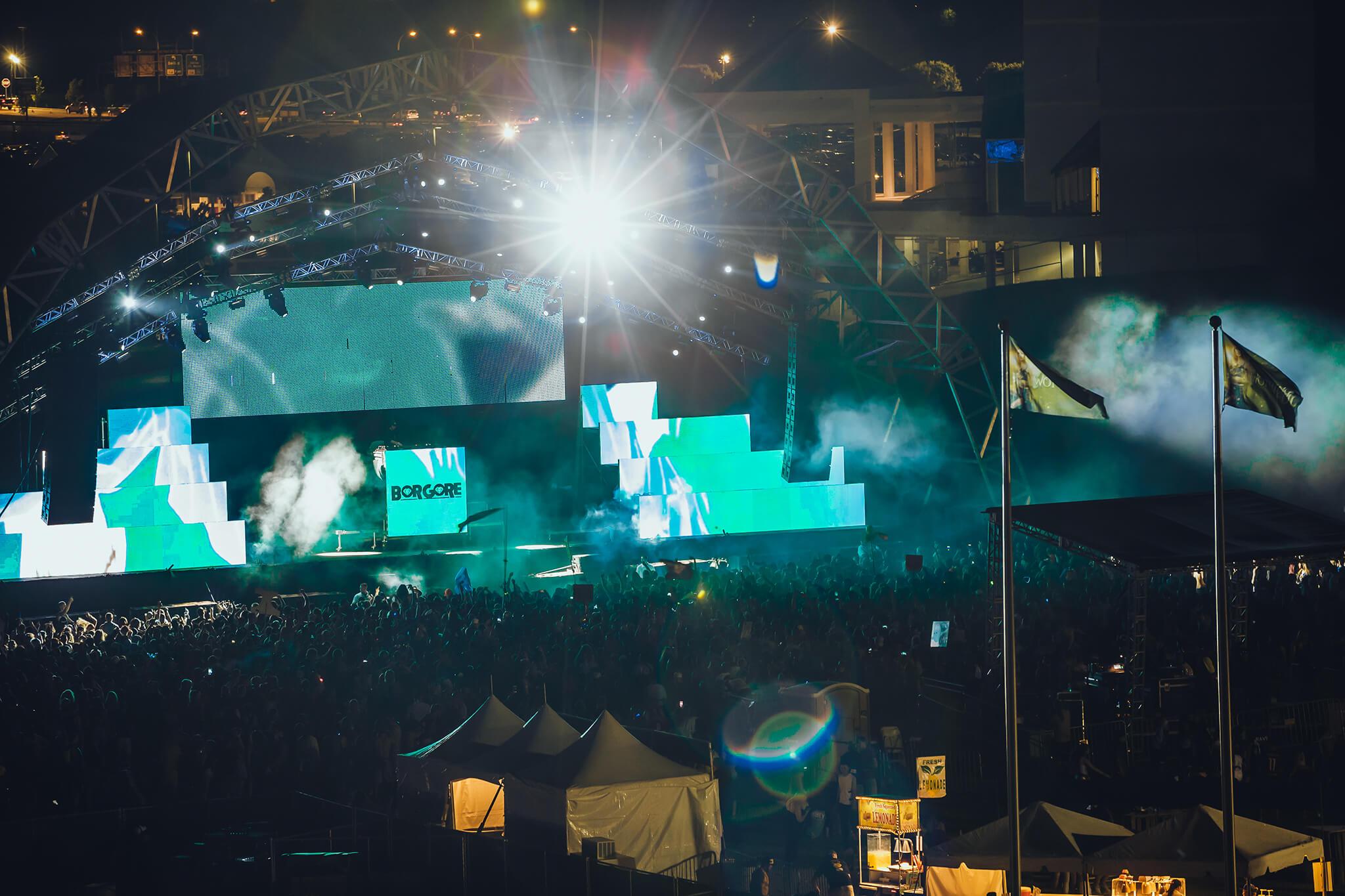 borgore stage at something wonderful festival