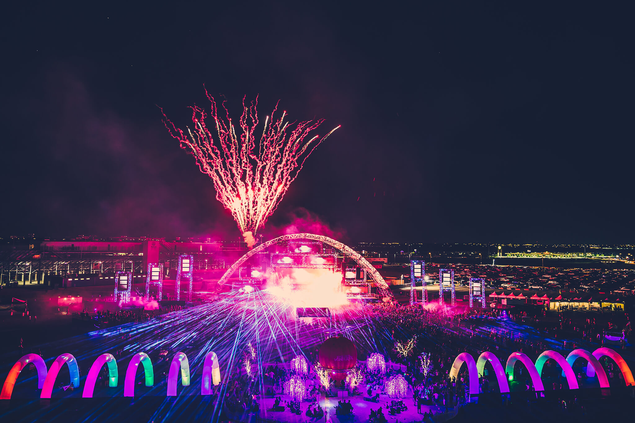 fireworks for tiesto's headlining set at something wonderful festival