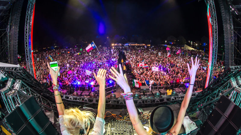 NERVO performing on main stage.