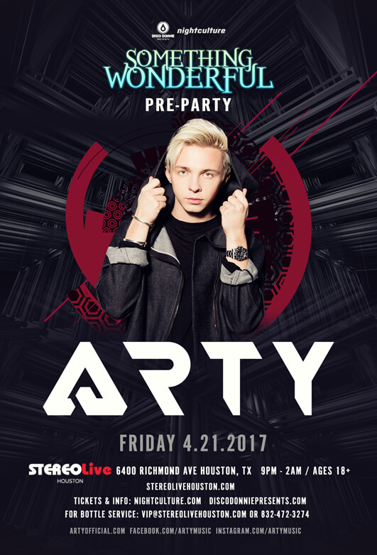 Arty at Stereo Live Houston