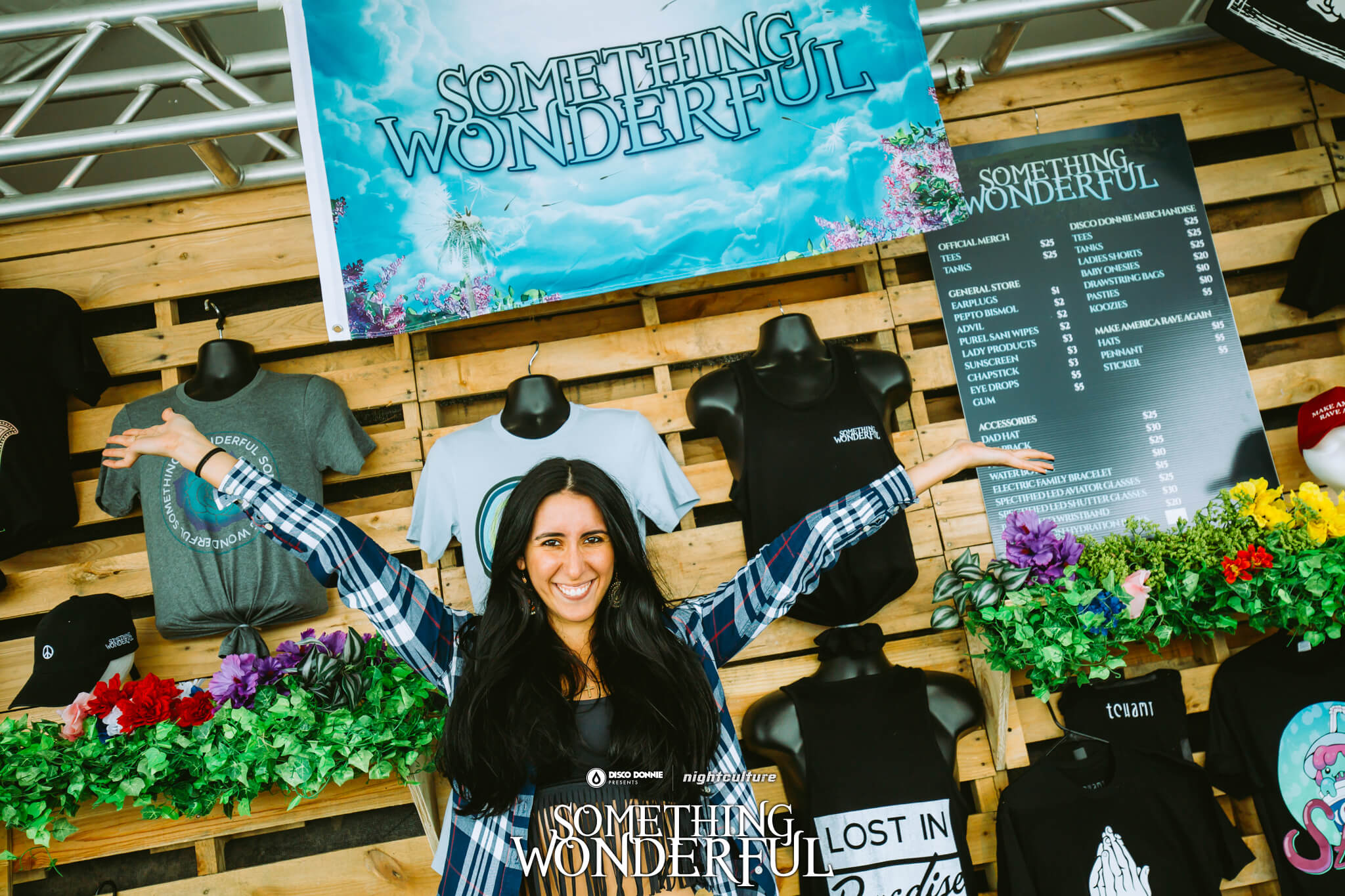 official festival merch booth