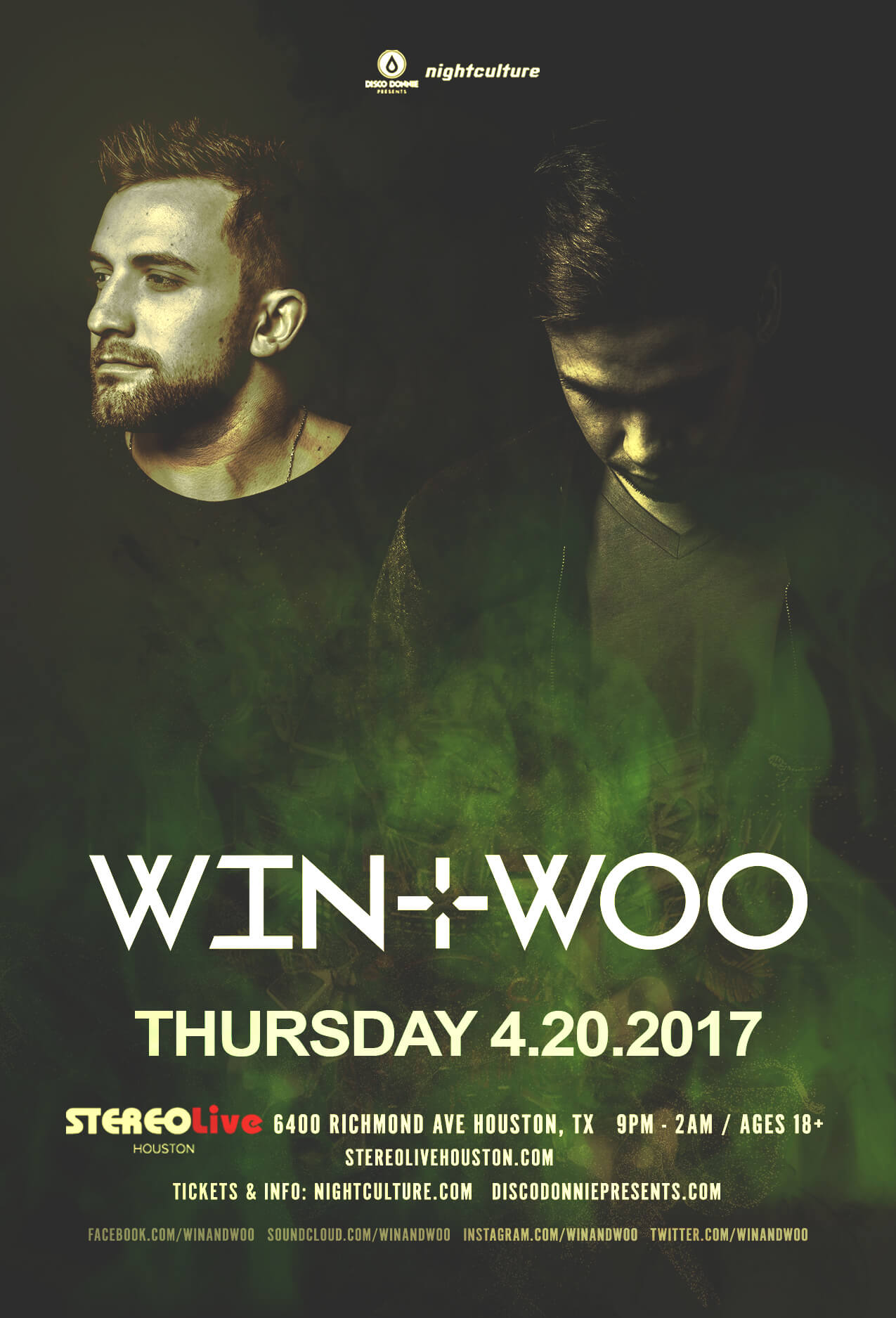 Win and Woo at Stereo Live Houston