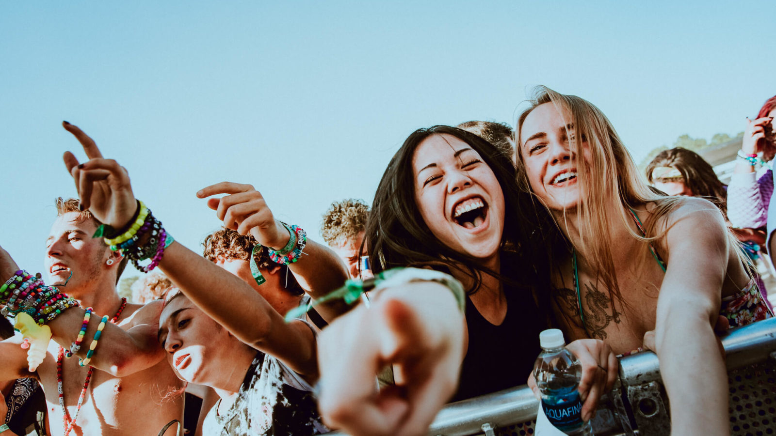 front row fans at something wicked festival
