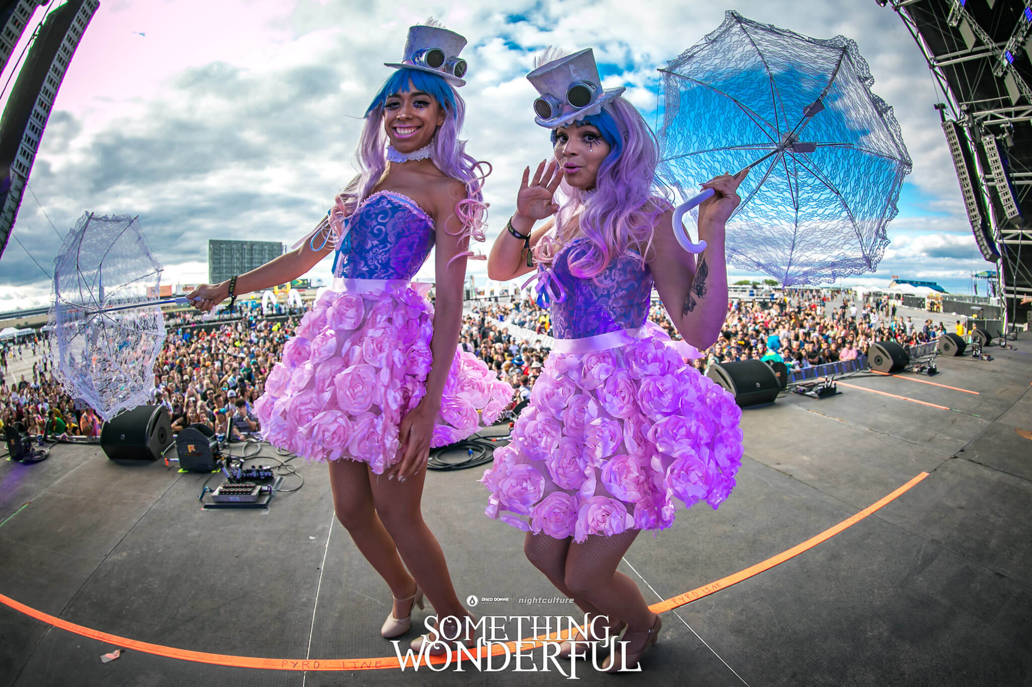 stage performers at something wonderful