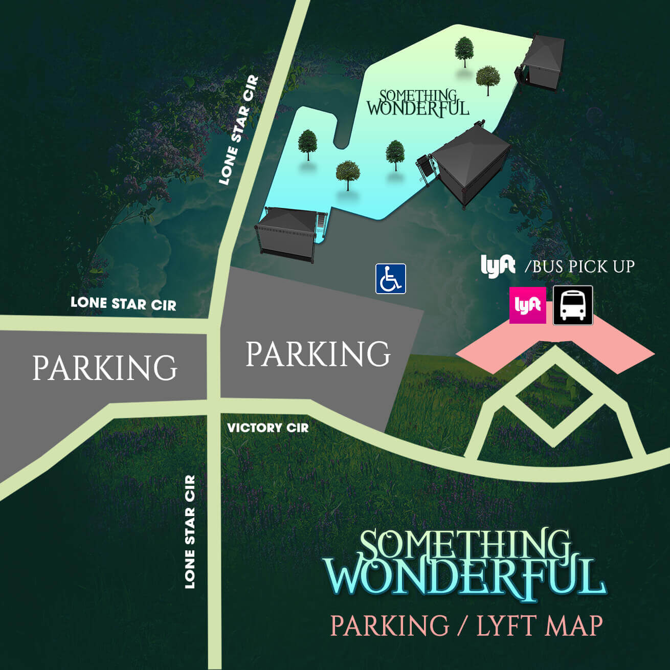 parking at something wonderful festival