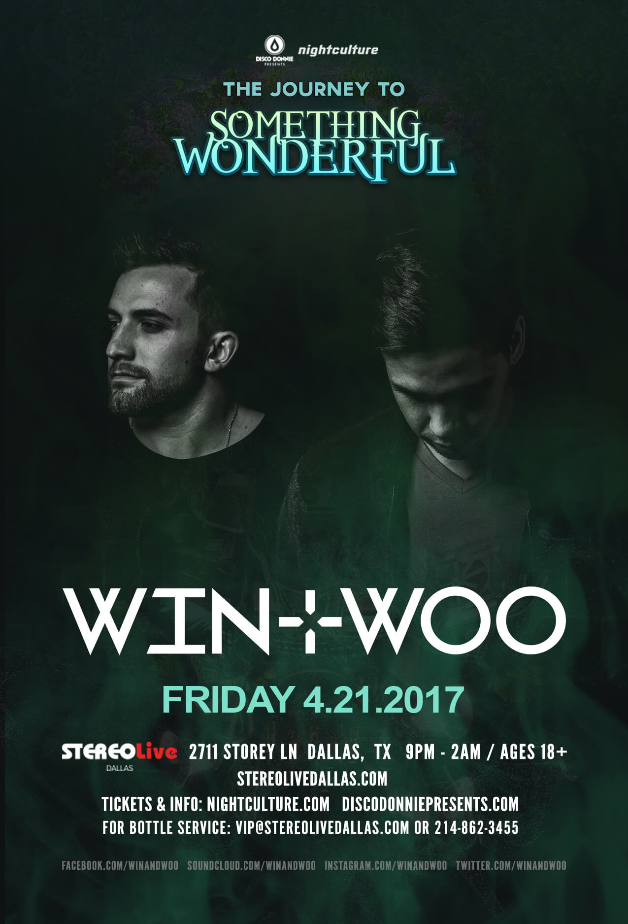 Win and Woo at Stereo Live Dallas