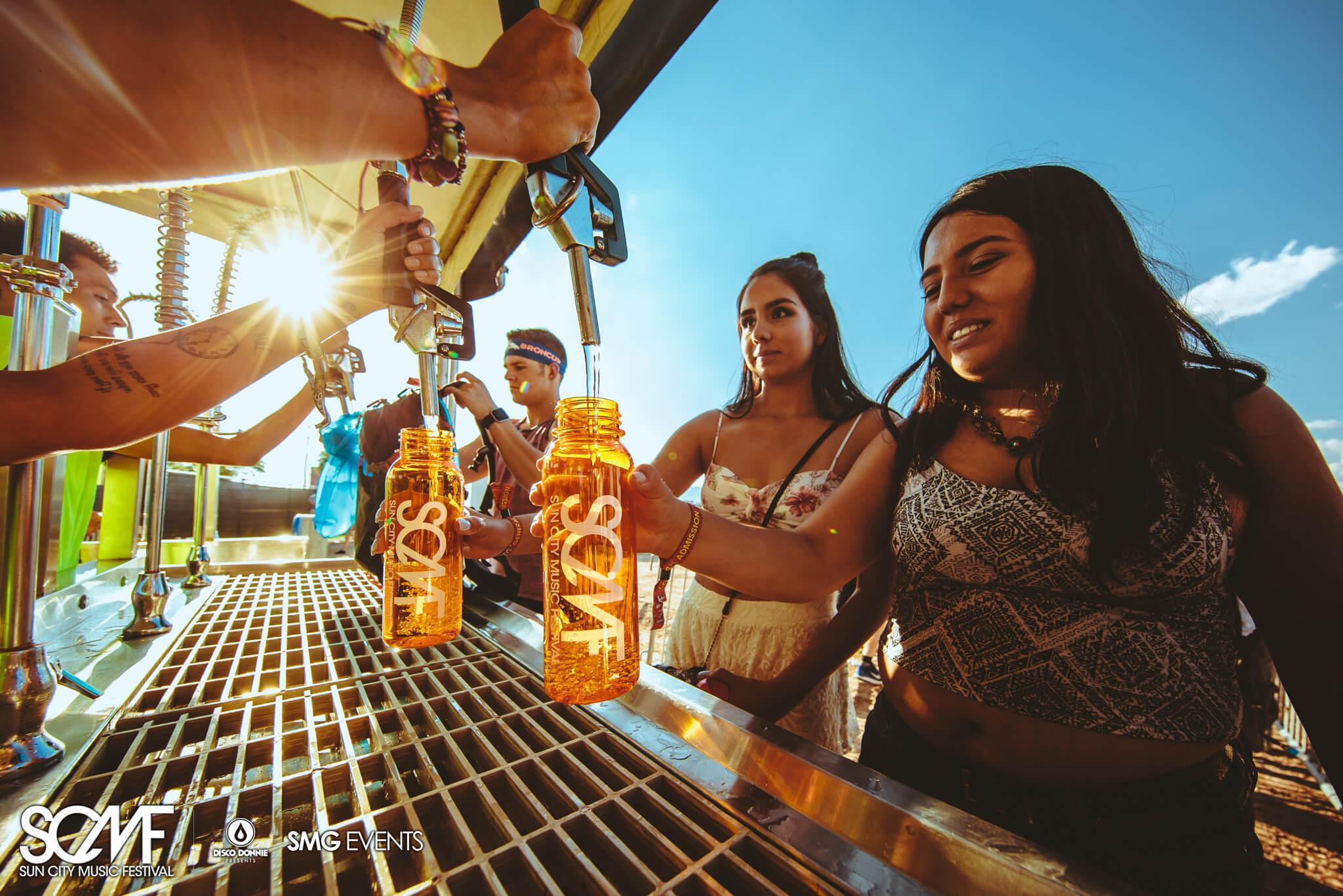 Image result for water bottle music festival