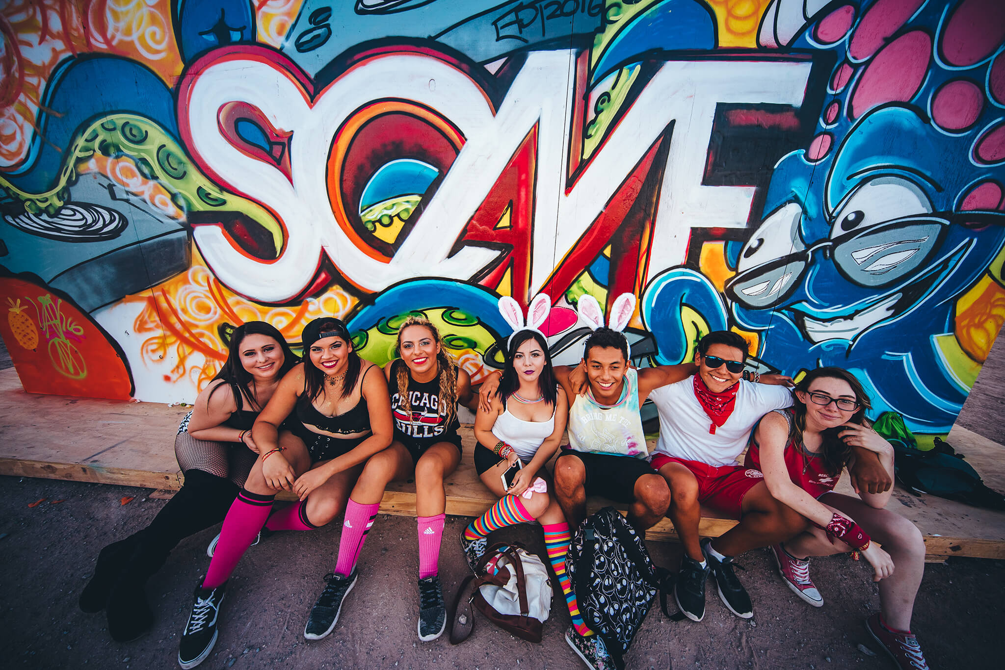 sun city squad at mural