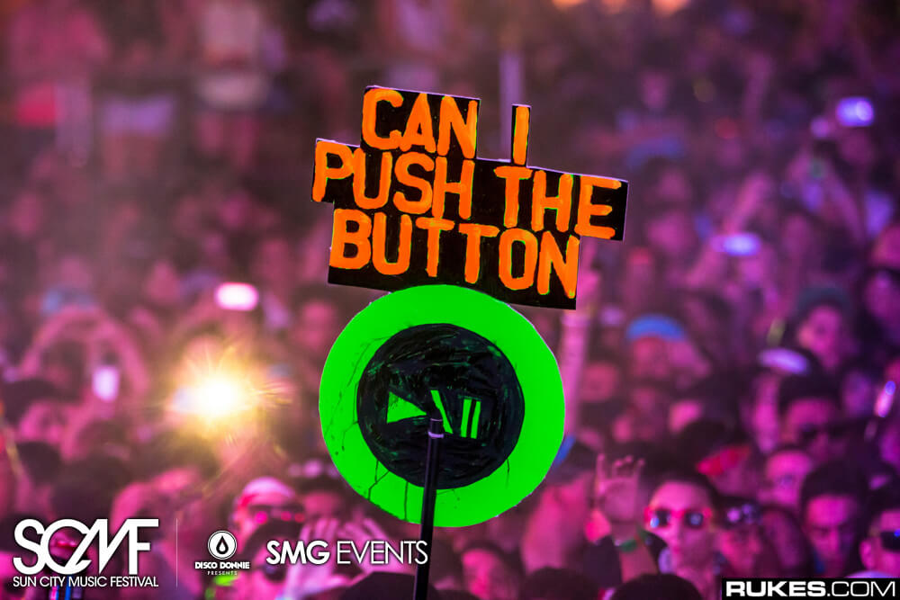 above & beyond fans push the button