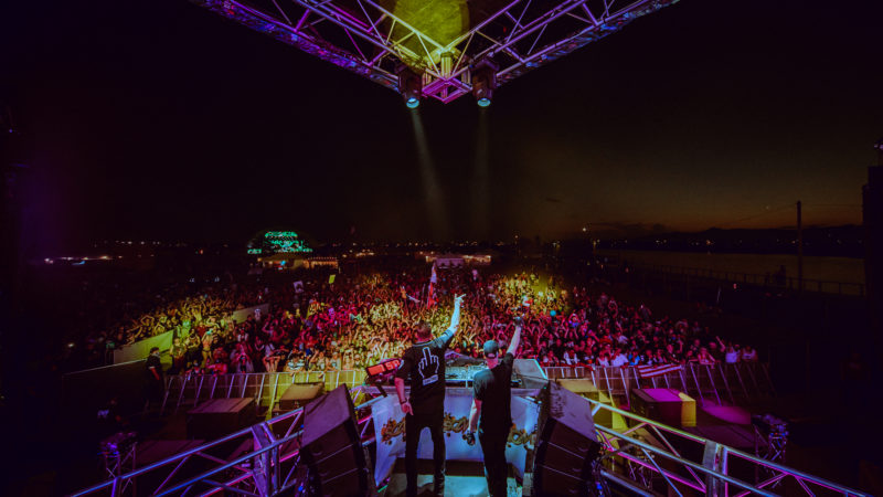 midnight oasis stage and crowd