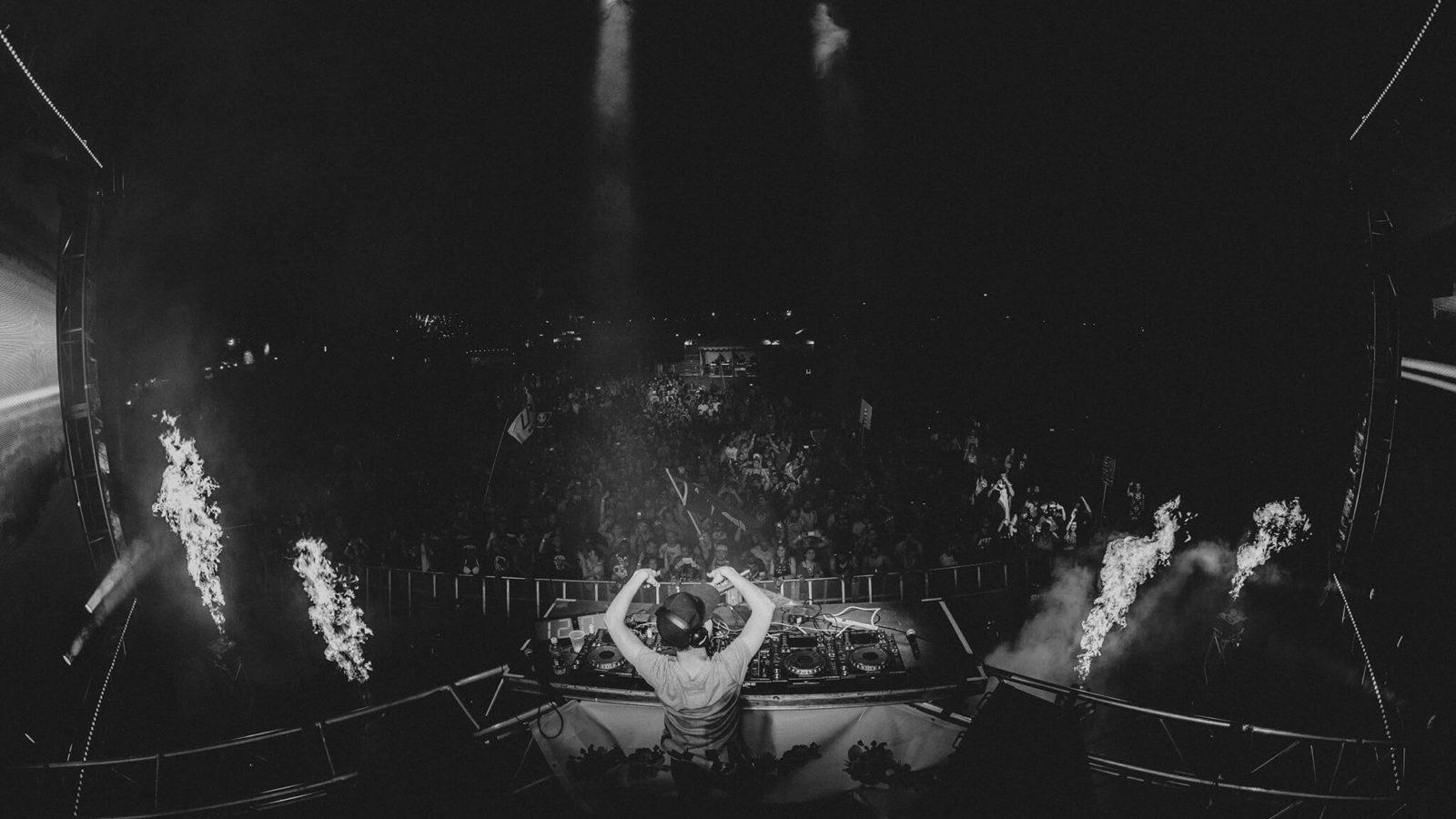 DJ on stage at sun city