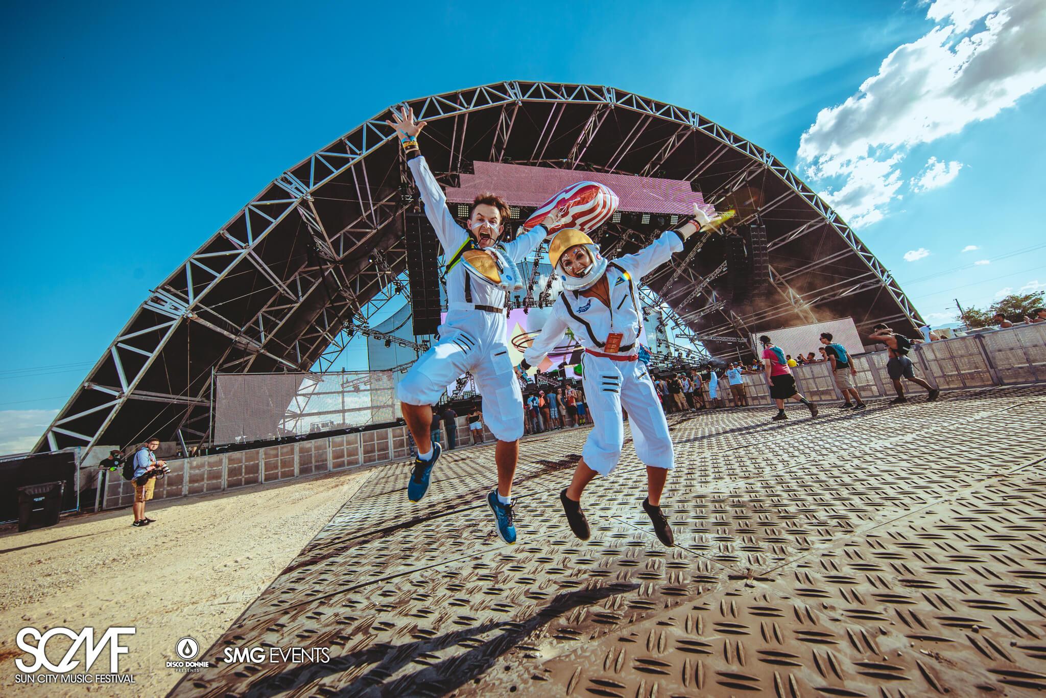 astronaut festival fans