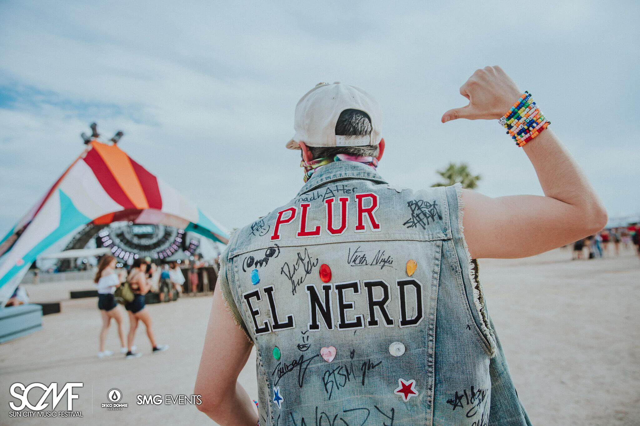 hardcore festival fan plur jean jacket