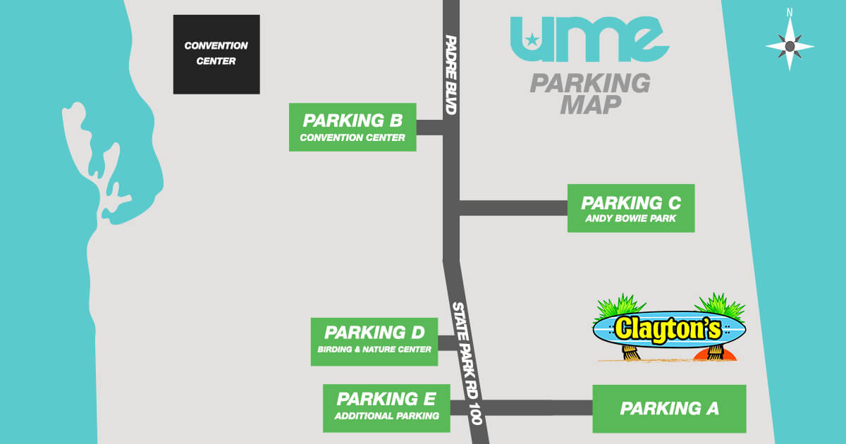 Parking Map for UME 2017