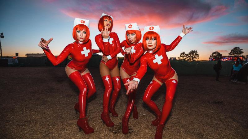 costumed performers