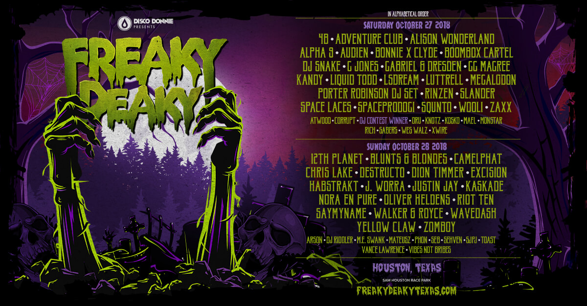 freaky deaky texas 2018 lineup with locals