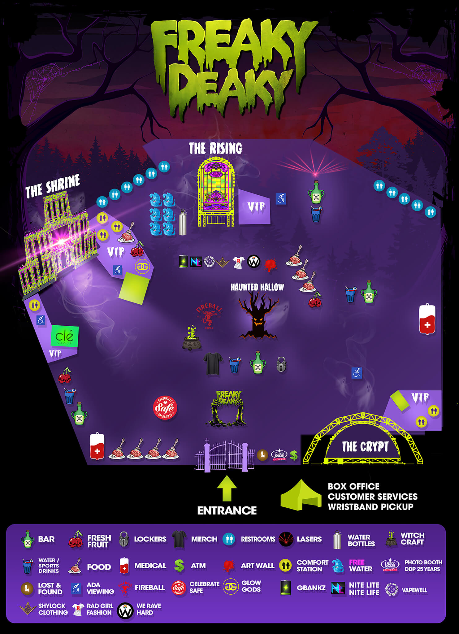 official map of freaky deaky texas 2018