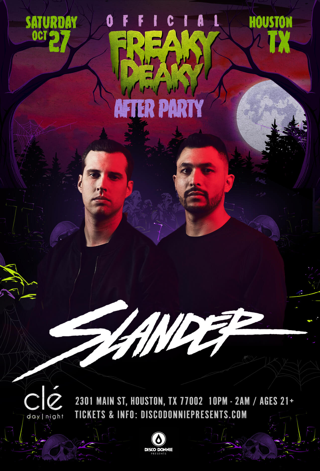 afterparty with slander on saturday