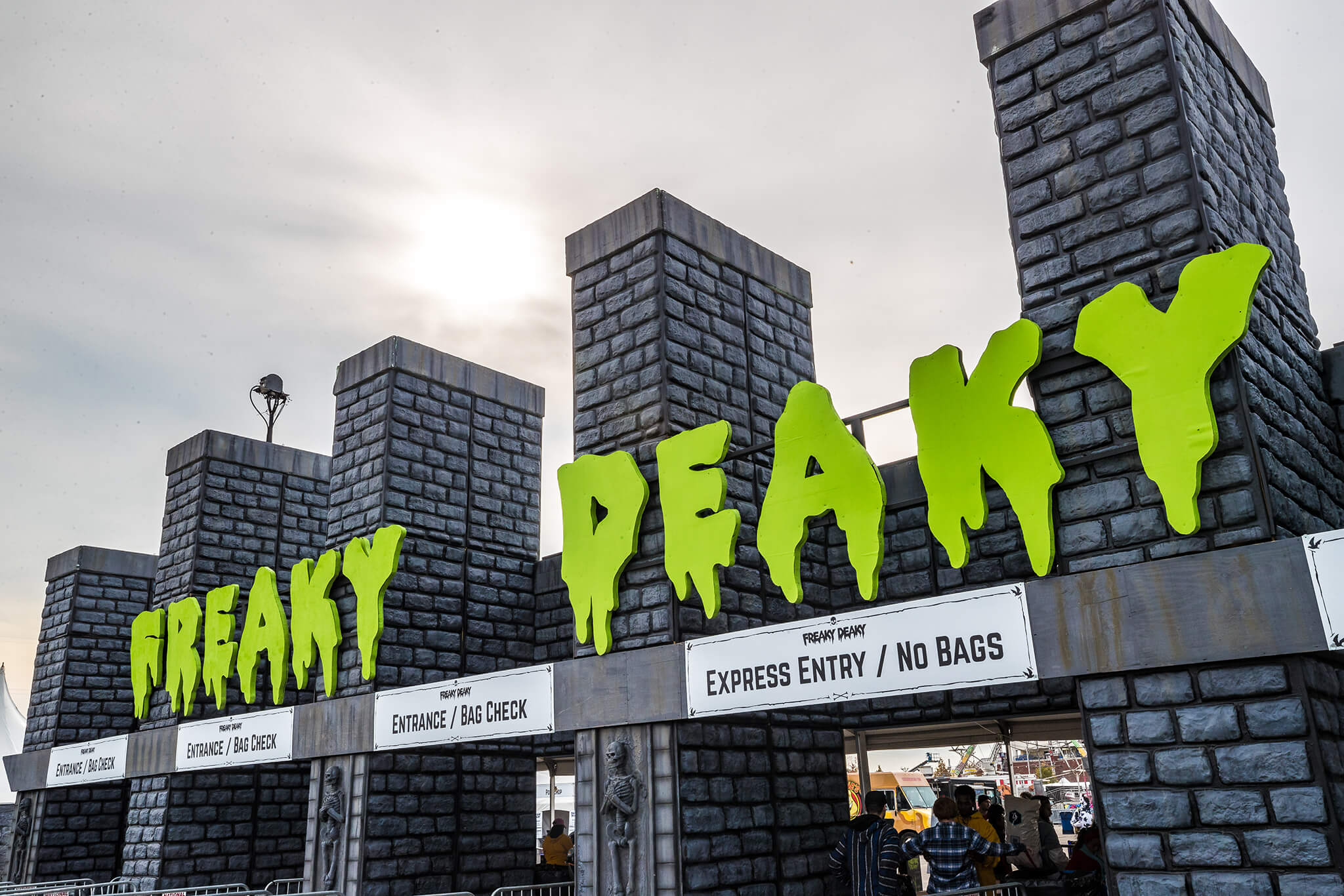 main gates at freaky deaky