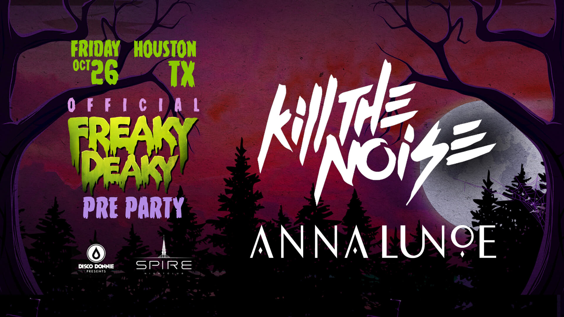 Kill The Noise and Anna Lunoe at the Friday Pre-Party!