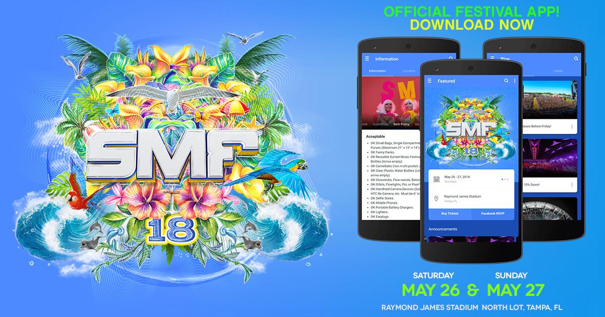 sunset music festival mobile app
