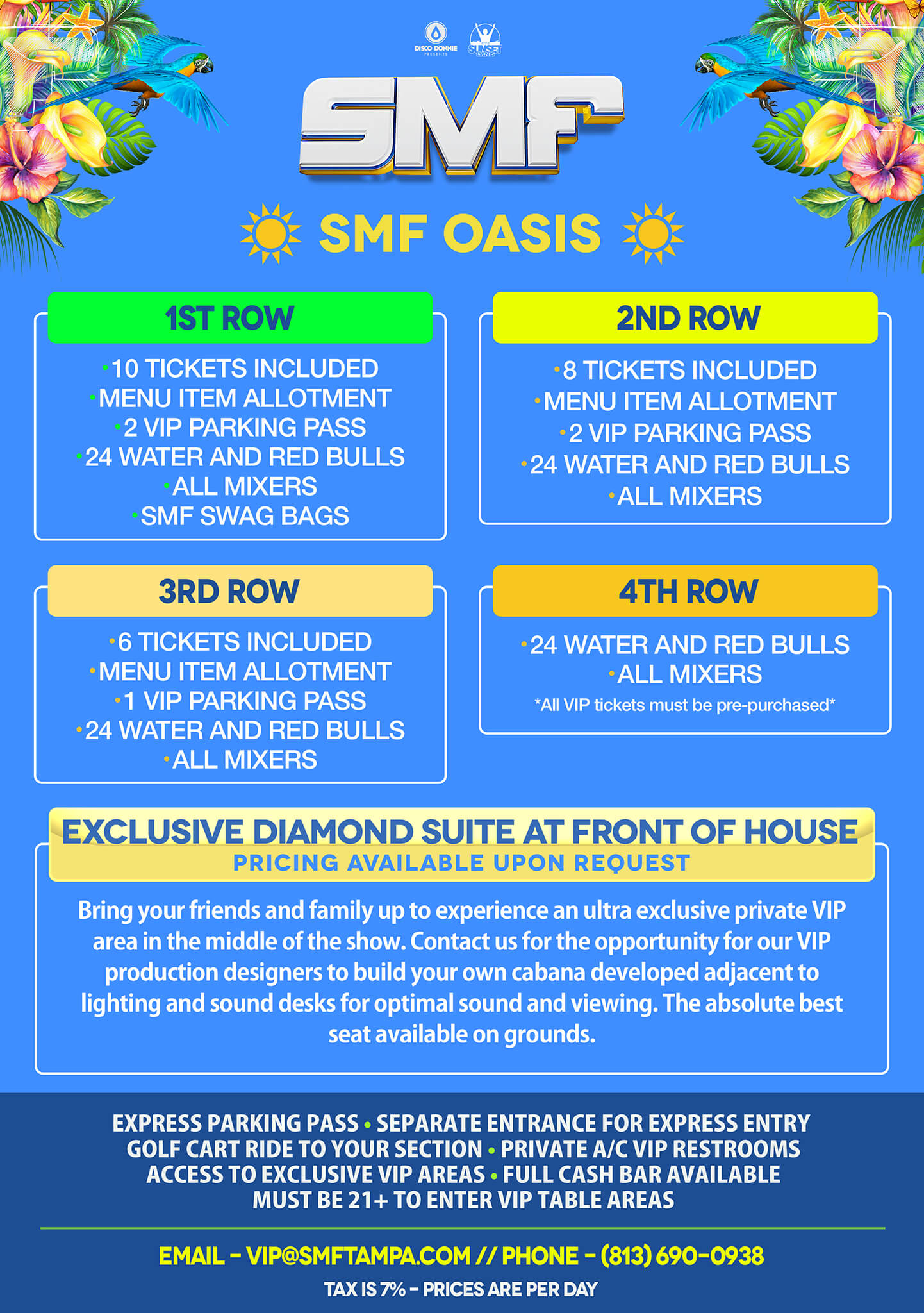 Reserve A Table In The Smf Oasis