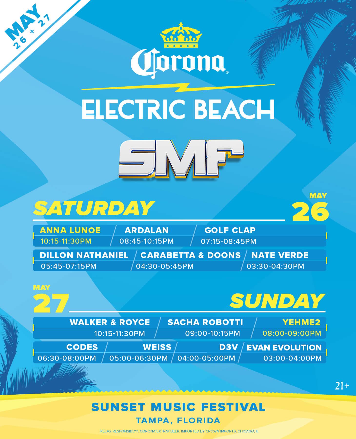 Corona Stage Lineup Poster