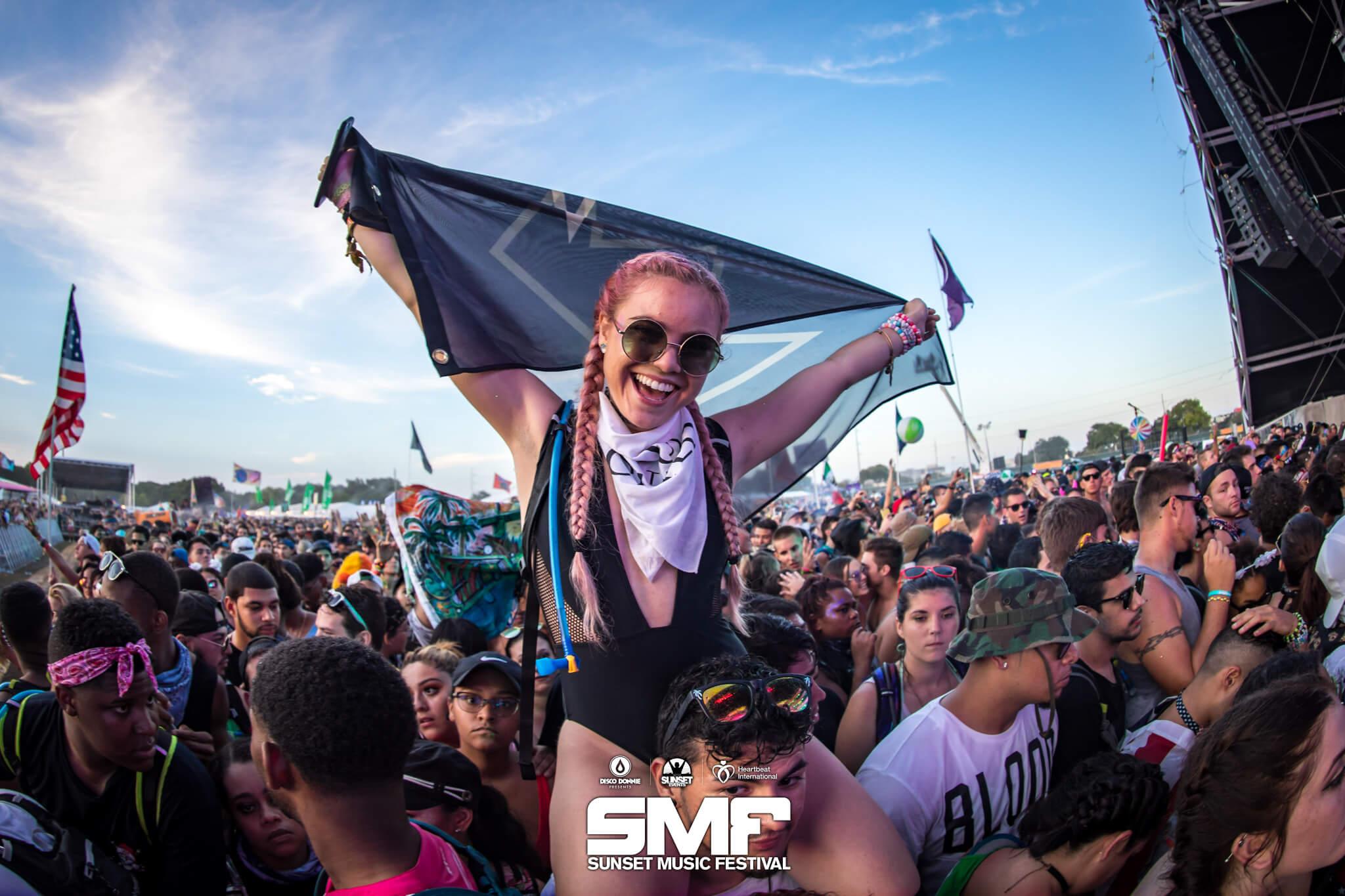 holding her flag high