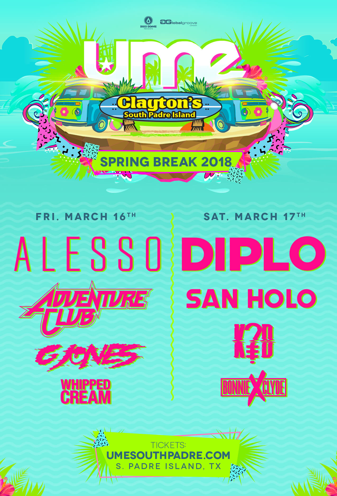 complete lineup ume 2018