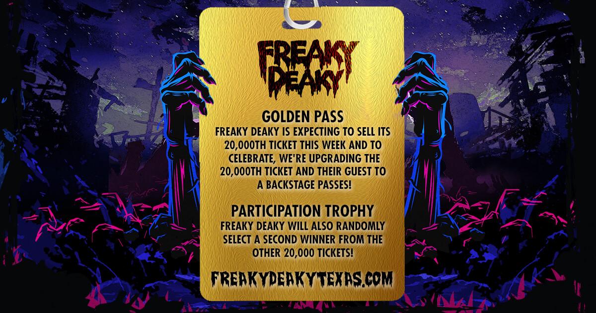 freaky deaky 2019 golden ticket