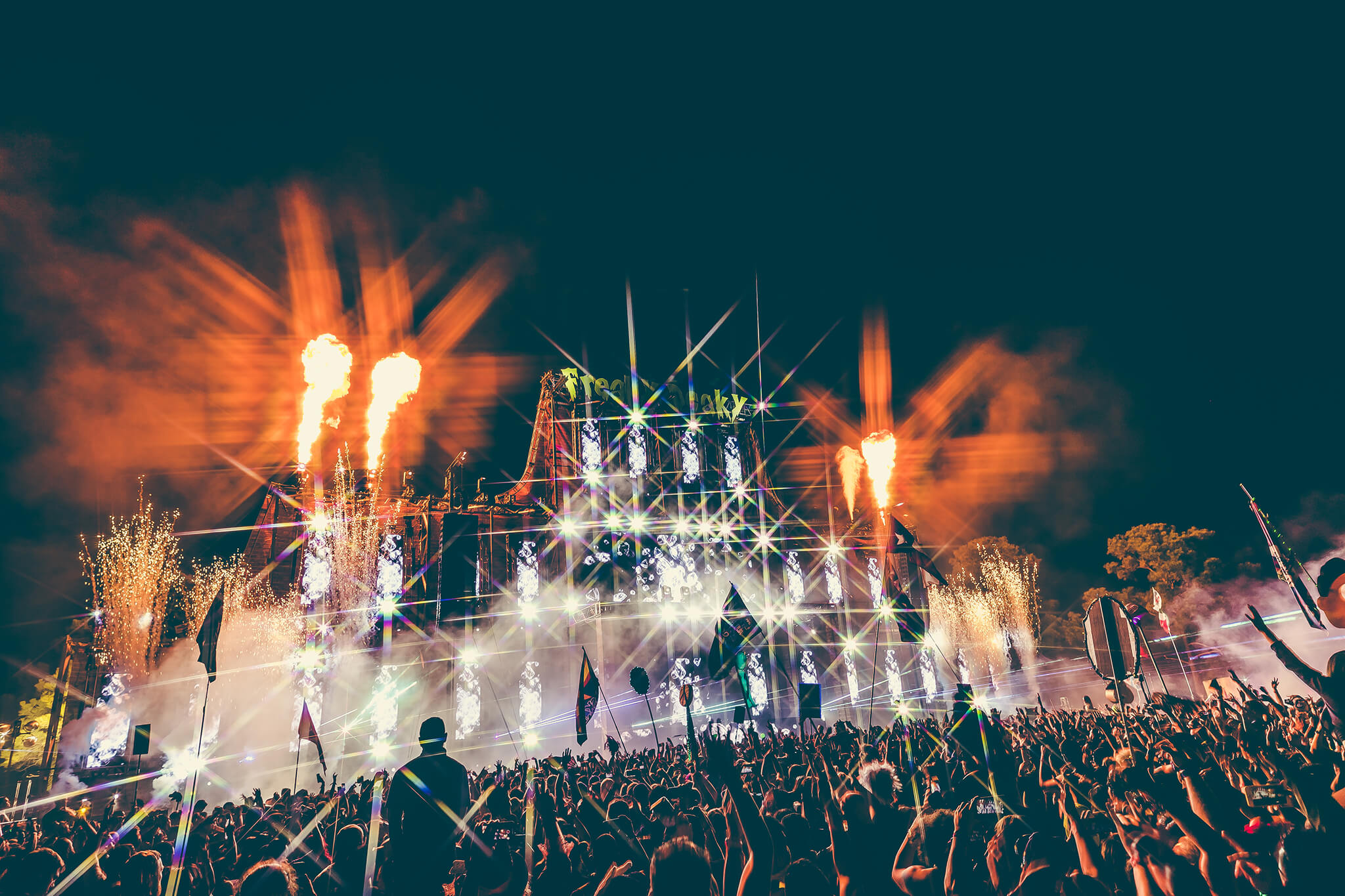 main stage vibes with pyro and special effects