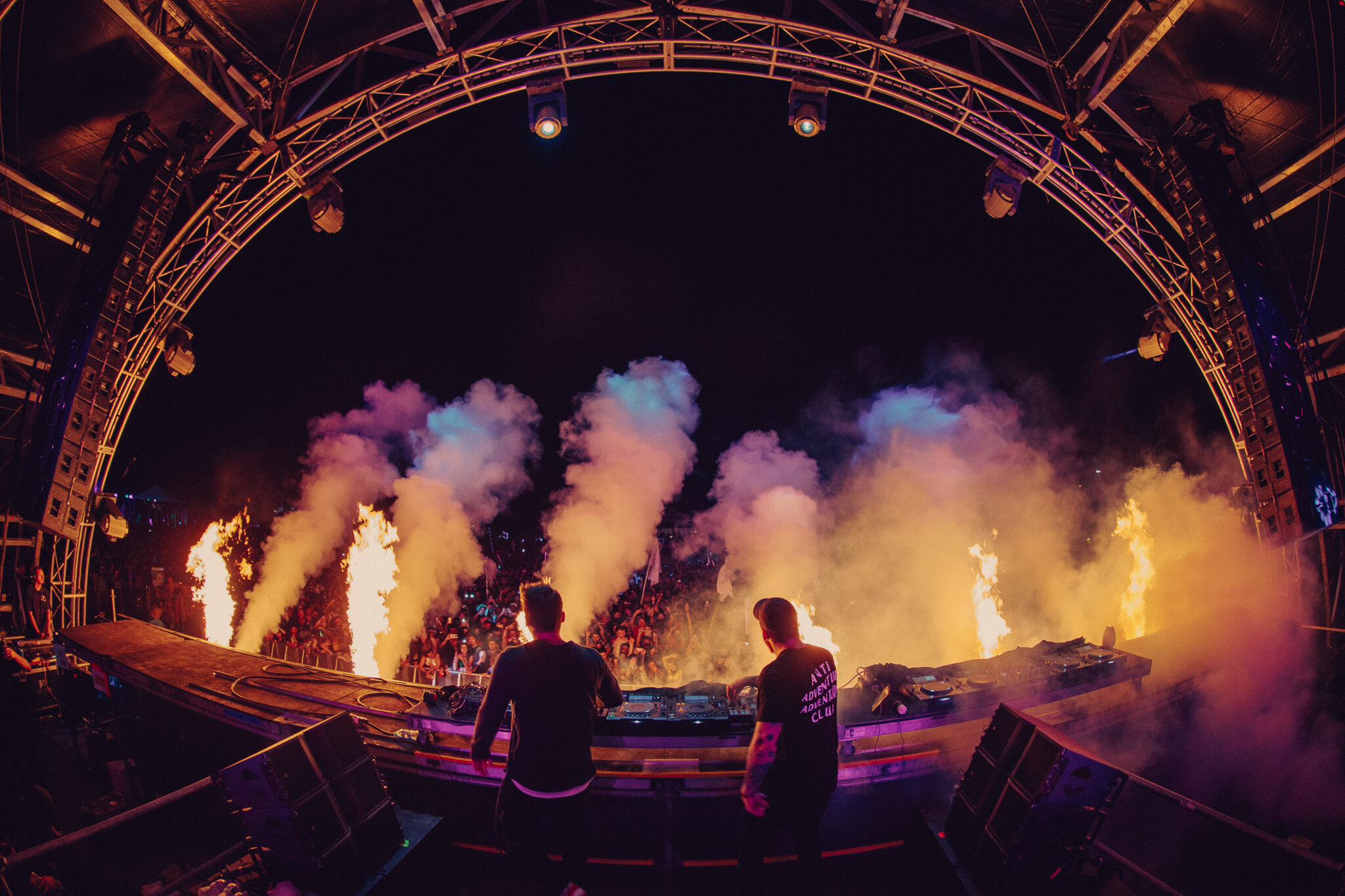 adventure club lights up the stage during their performance
