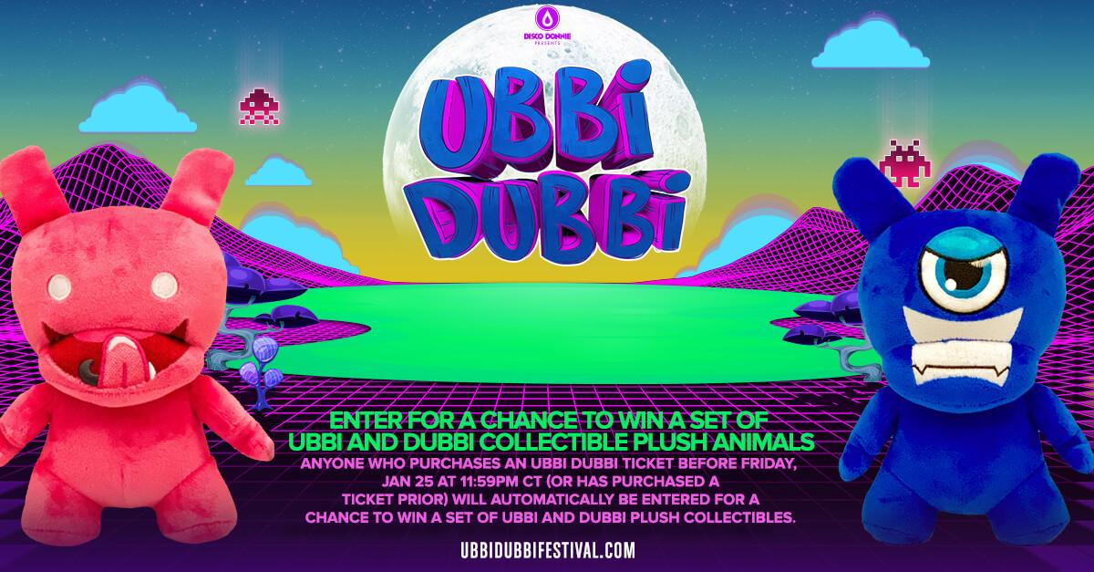 win ubbi dubbi collectible plush animal